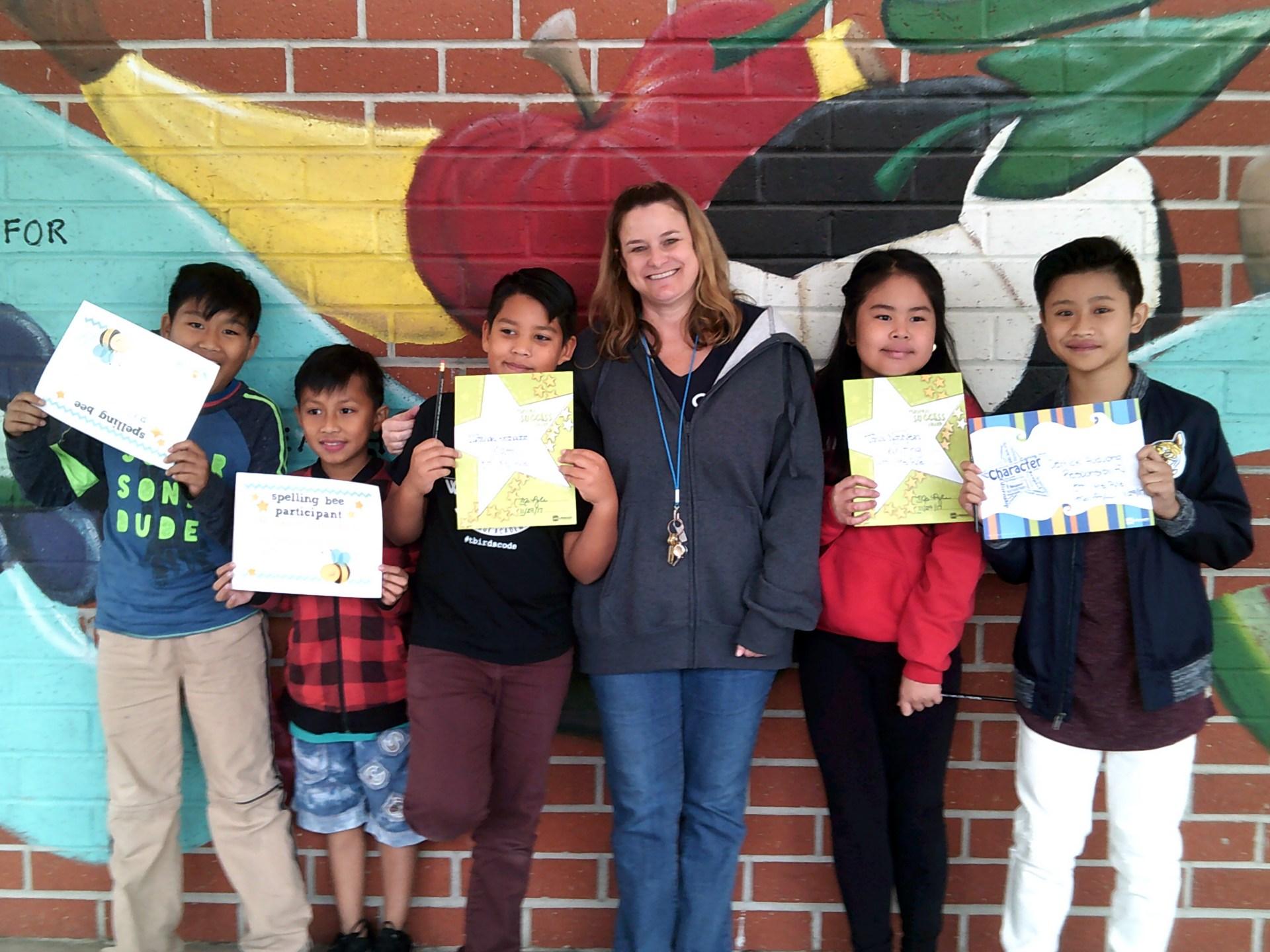 Ms. Pyle's November Honorees