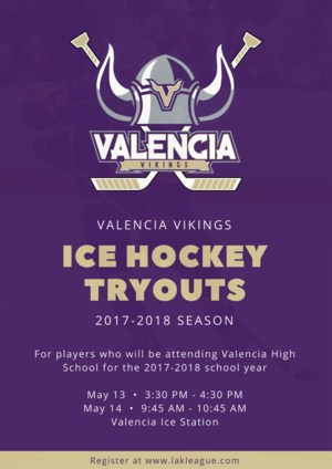 VHS Hockey tryouts information.