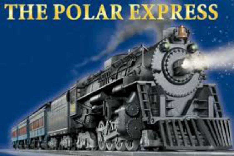 Picture of the Movie with the words The Polar Express