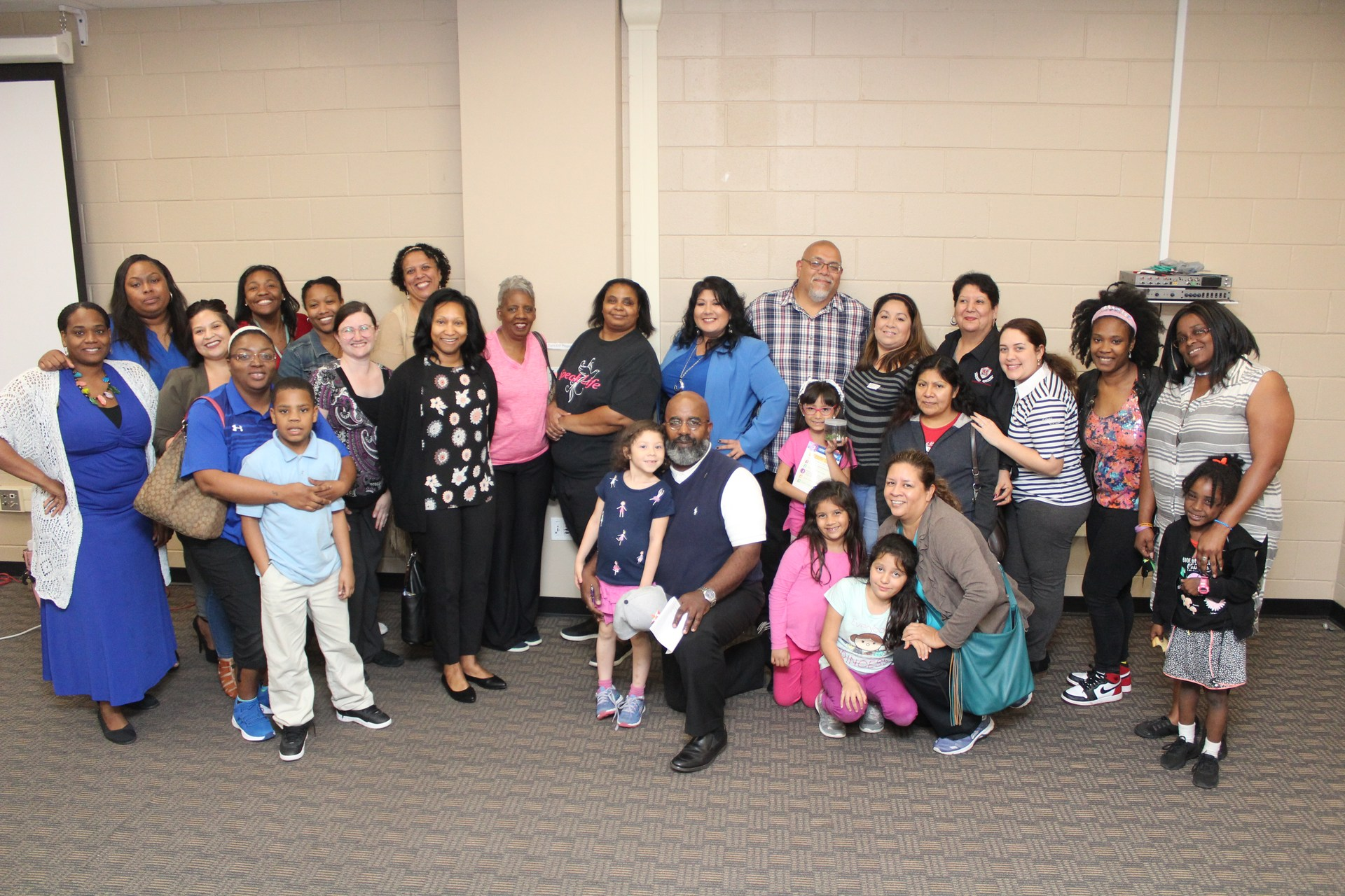 Manor ISD Community Members attending Parent Advisory Meeting.