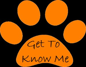 Get to Know Me paw print