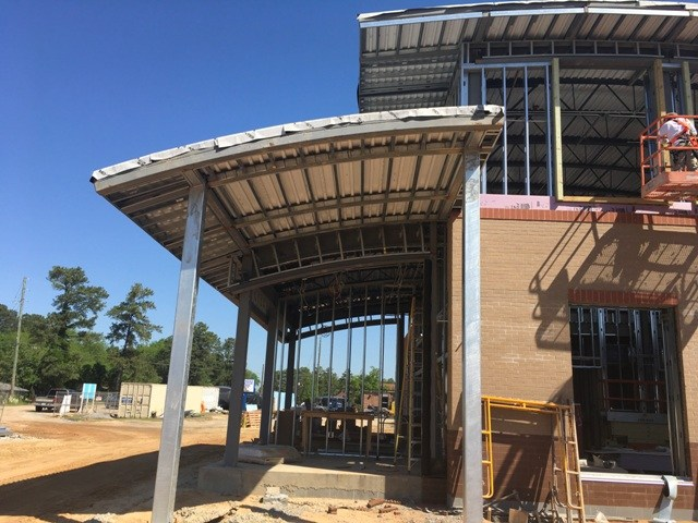 Close up of Springdale Elementary addition brickwork