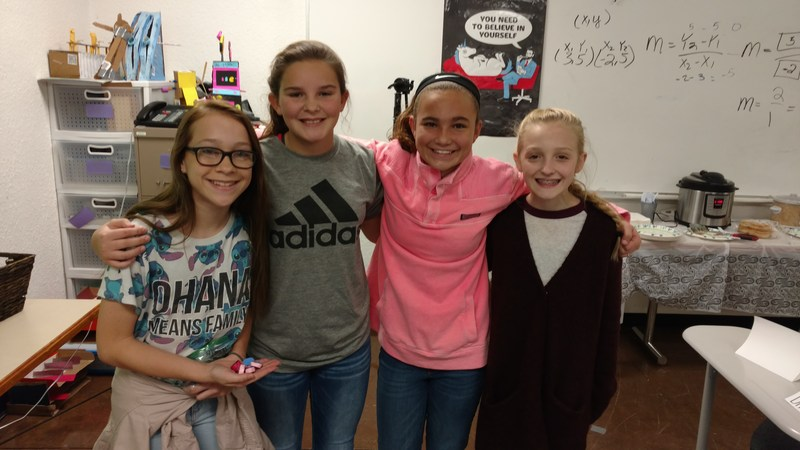 SMS students show off Math Manipulative they created