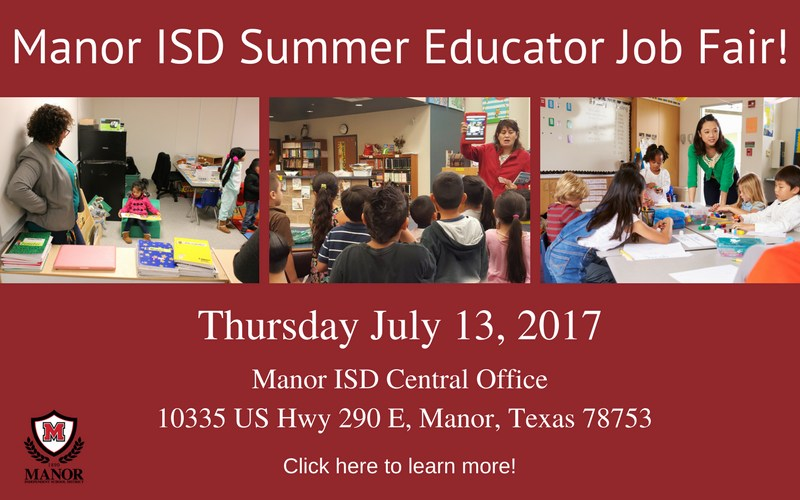 Come Learn About Career Opportunities at Manor ISD! Thumbnail Image
