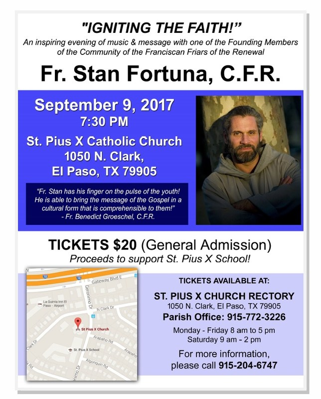 Fr. Stan Fortuna Concert to benefit St Pius X School Featured Photo