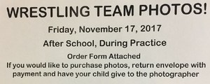 Wrestling picture day announcment