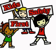children with safety signs