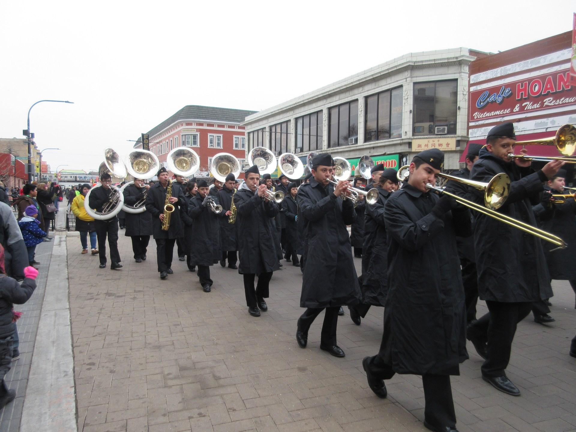 Sea Dragon band at Chinese New Years parade