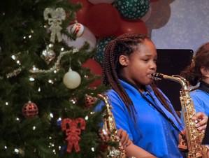 Teanna Bailey on saxophone
