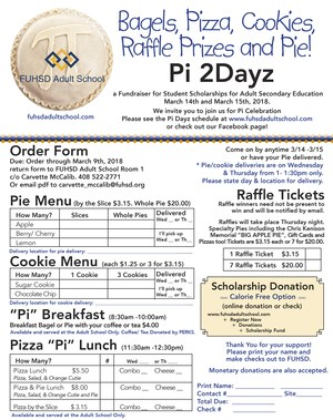 Pi Day Order Form