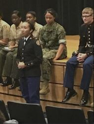 RHHS MCJROTC Cadets at HRMS