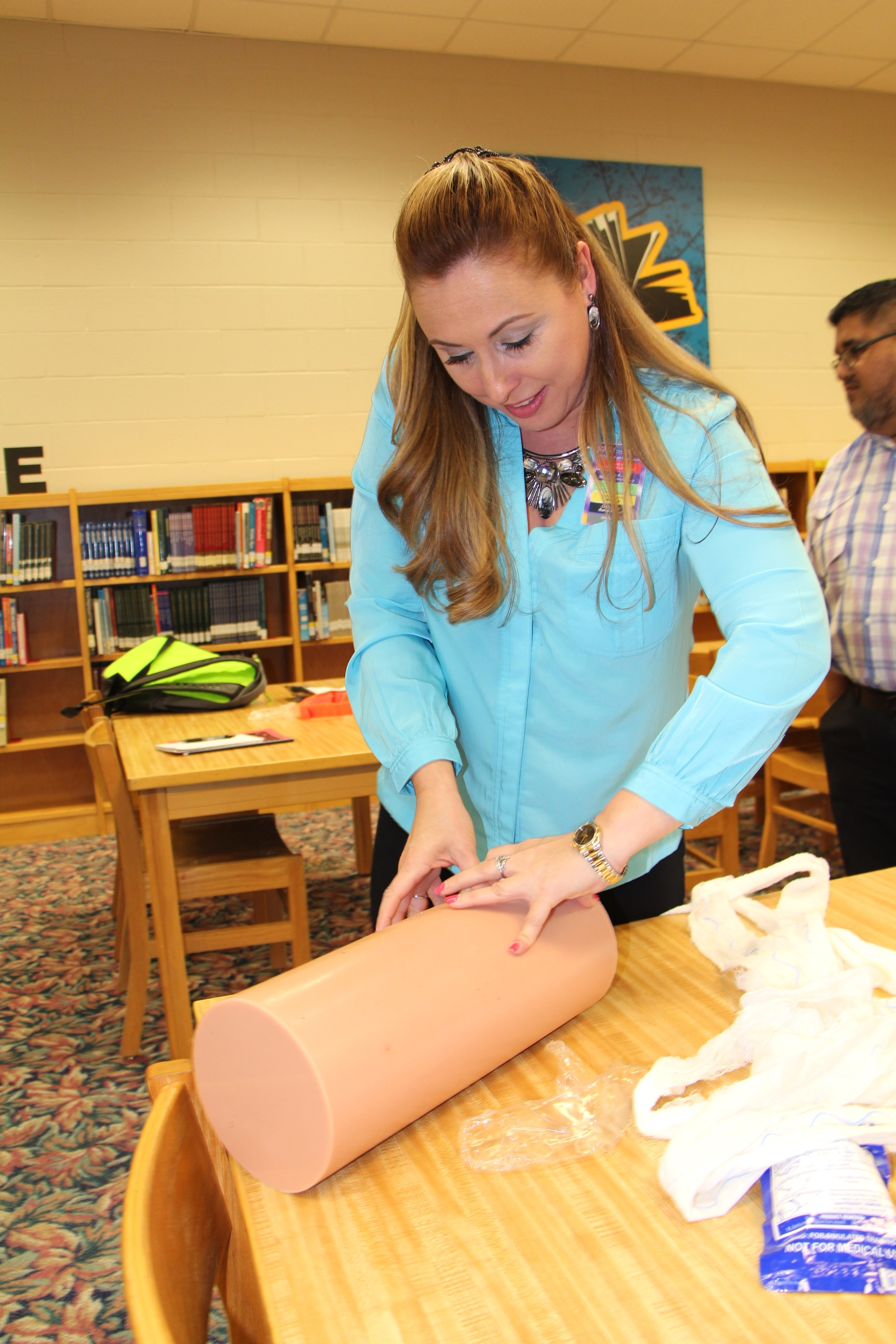 School personnel trained on how to stop traumatic bleeding