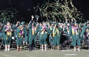 Tahquitz students celebrating graduation