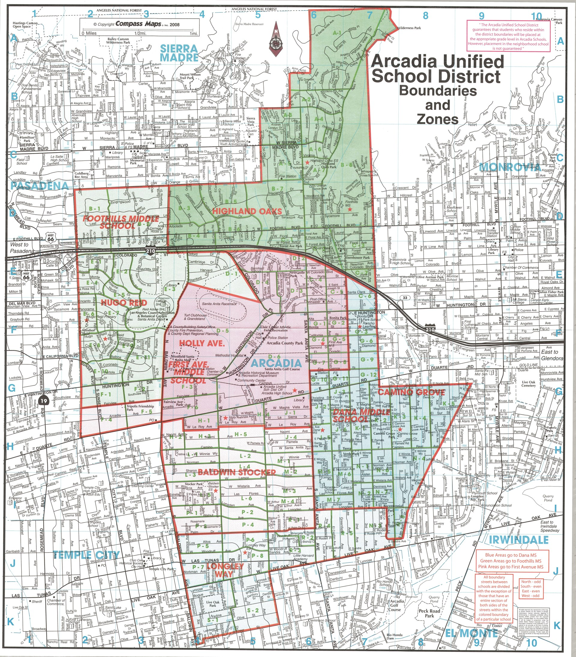 School Boundaries District Info Arcadia Usd