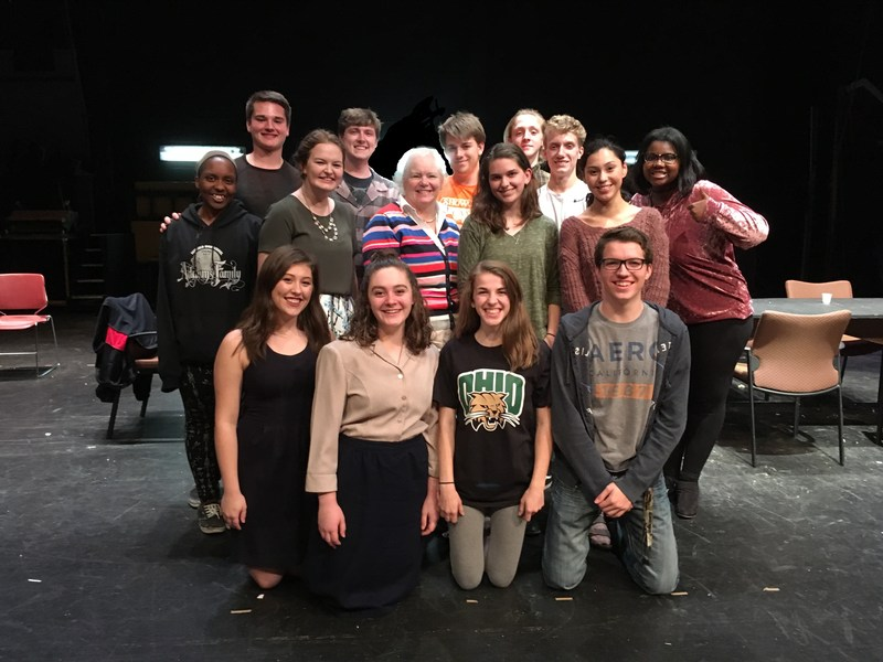 Image of the cast of 12 Angry Jurors, which is being performed by FHS students Nov. 16-18 at FHS in the PAC. Fairfield Municipal Court Judge Joyce Campbell is also pictured with students.