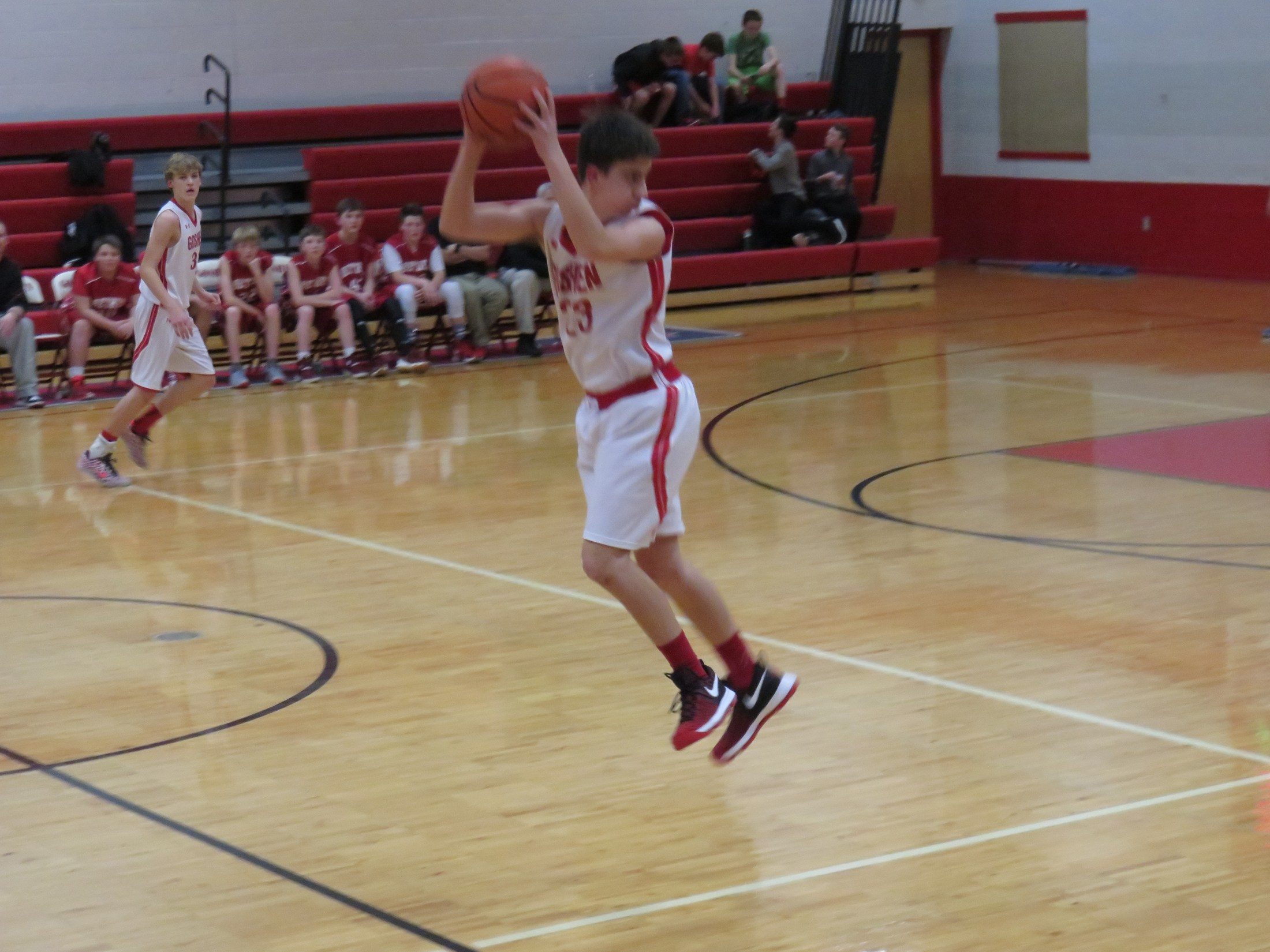 8th grade boys basketball player Jacob McDaniel