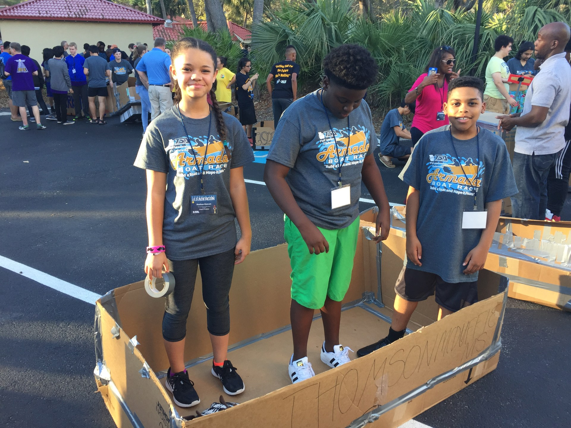 Cardboard boat for Fall Leadership Conference