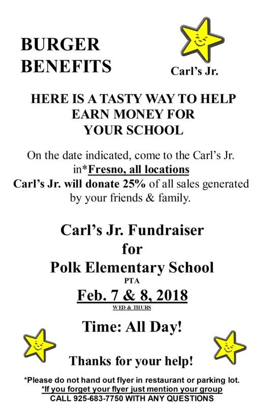Carl's Jr. Polk Fundraiser Flier
