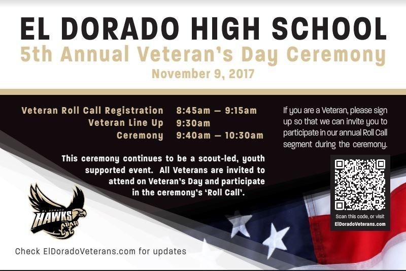 Veterans Day @ EDHS Thumbnail Image
