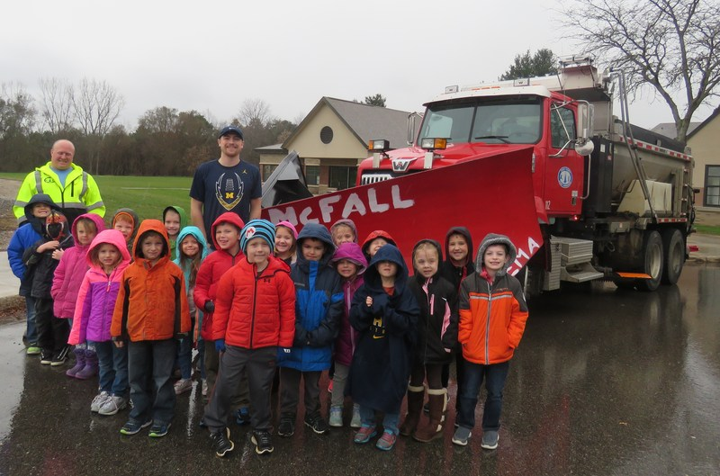 McFall kindergarten students got a safety lesson from the Barry County Road Commission.
