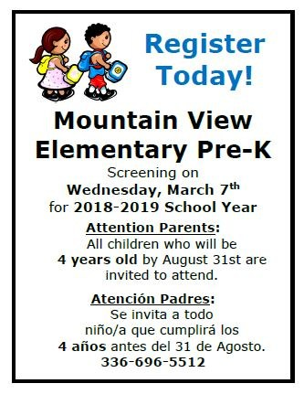 Pre-k Screening March 7, 2018--Register Today! Thumbnail Image