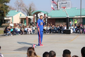 El Gato talks to students about safety and bullying