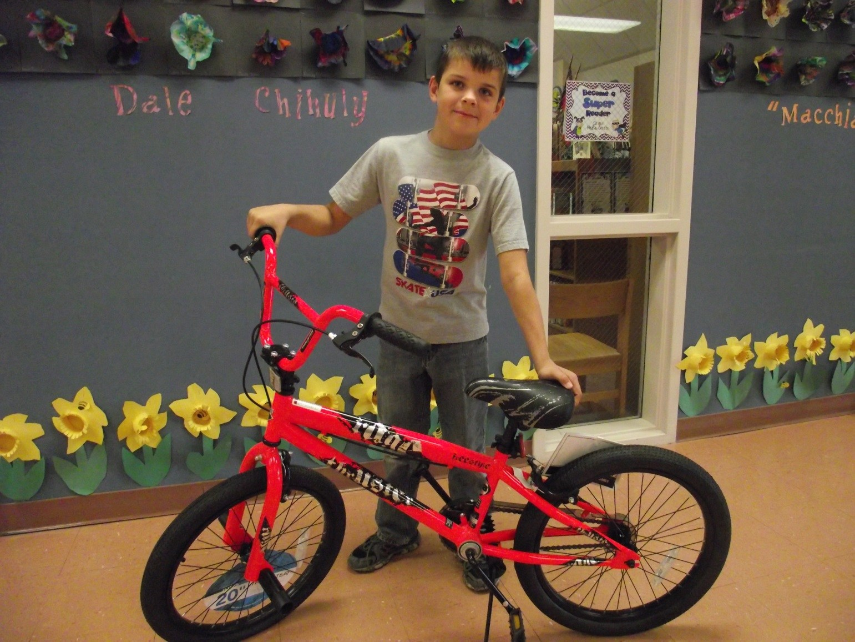 Student won bicycle