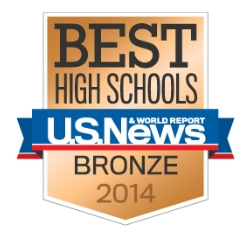 U.S. News Best High Schools Bronze 2014