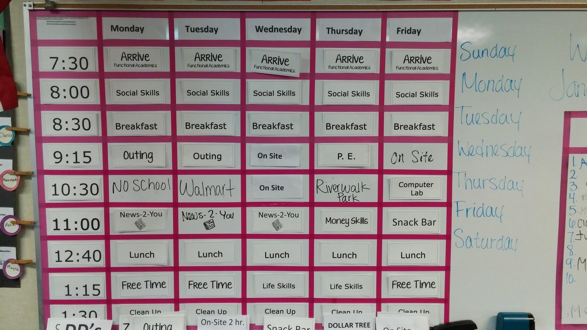 A.B.L.E. Schedule
