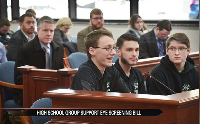 CW Tech student testify in front of the Michigan Senate on January 30, 2018