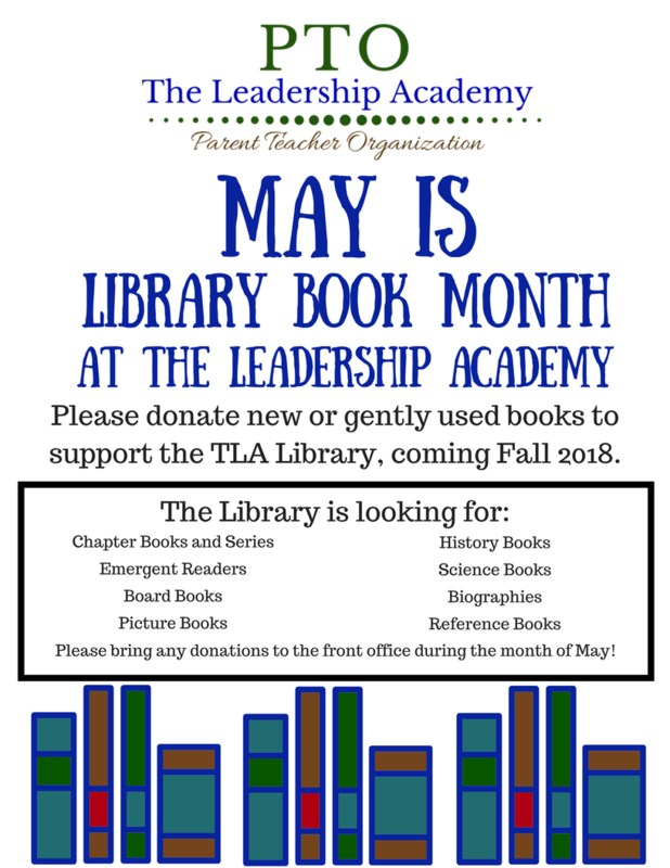 TLA May Book Drive Featured Photo