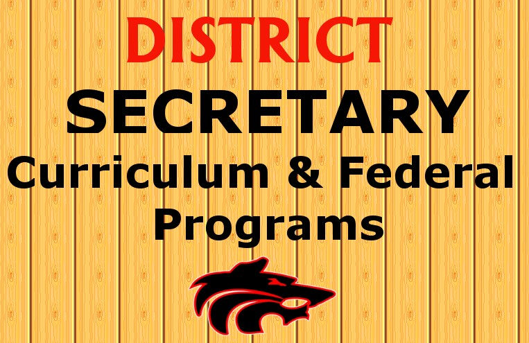 Wolf Logo with District Secretary written on background