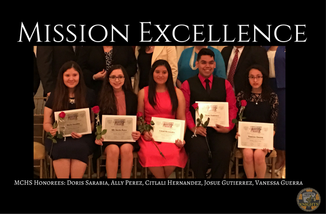 MCHS Mission Excellence Honorees