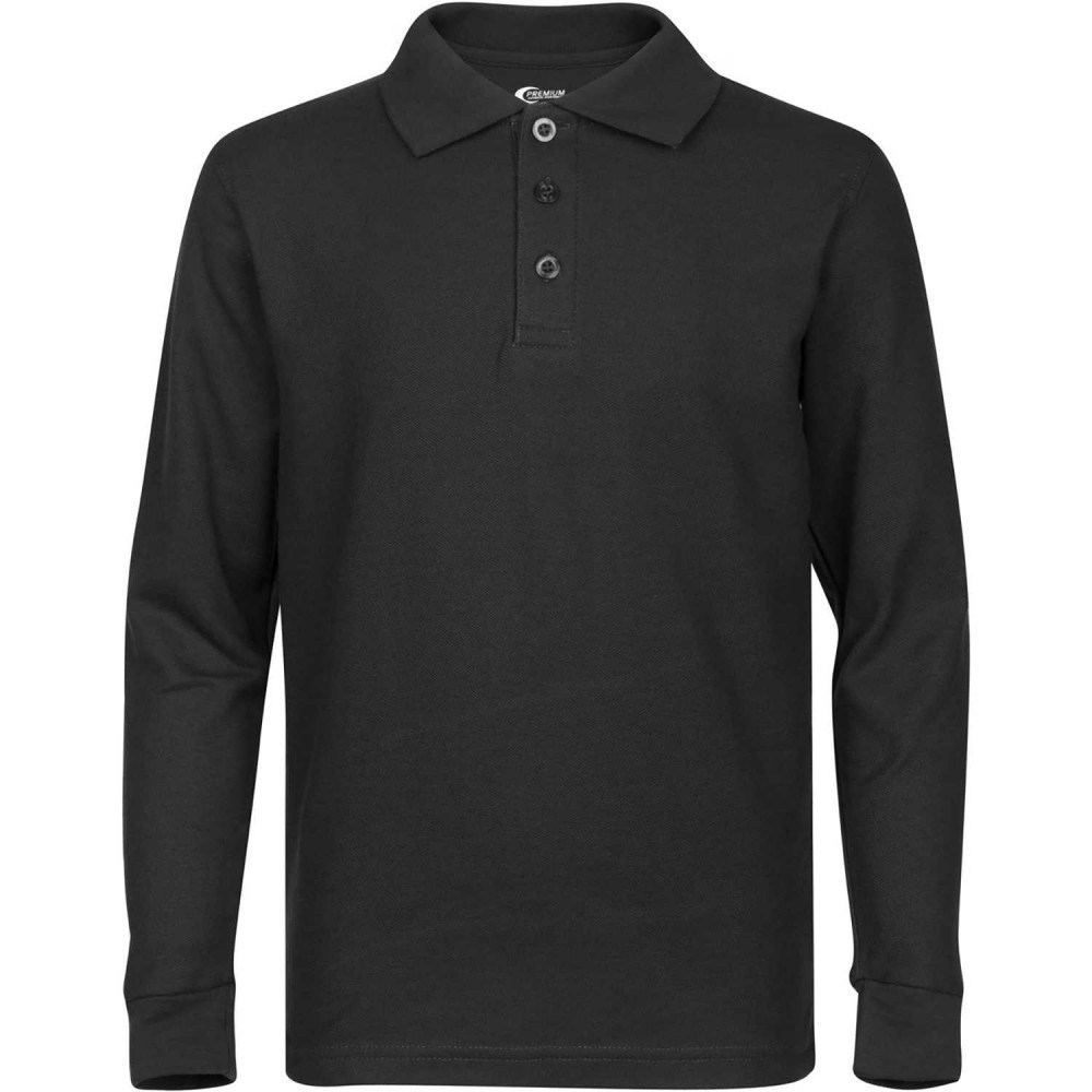 Black Long Sleeve Polo