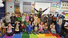 Kindergarten 100th day group photo