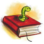 green worm in red book
