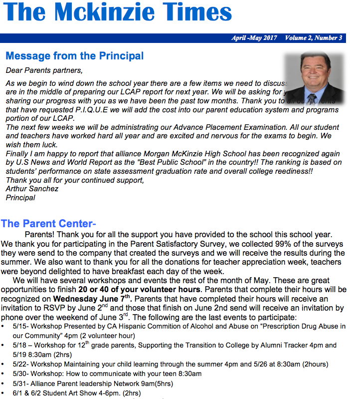 Principal's Message Thumbnail Image