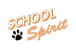 school spirit with paw print
