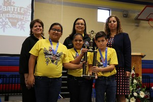 Cavazos Elementary School third place team picture