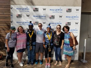 MISD Representatives rappelled for Make-A-Wish=