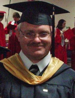 Picture of Mr. Edwards at GHS graduation