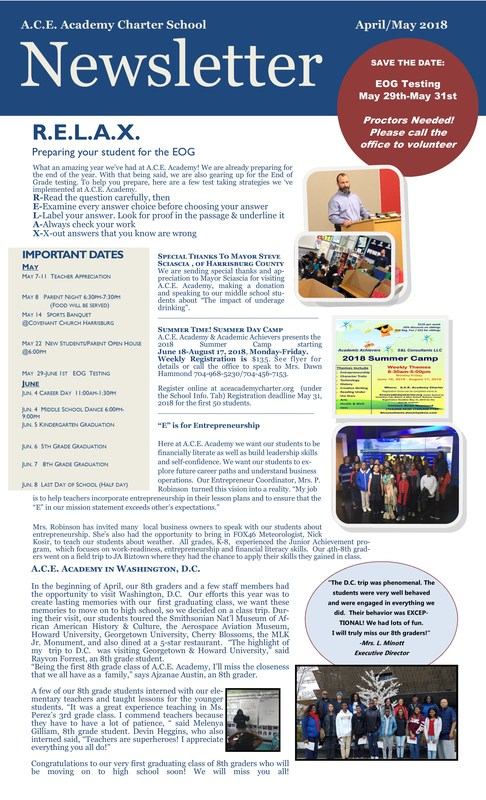 April & May Newsletter Available Thumbnail Image