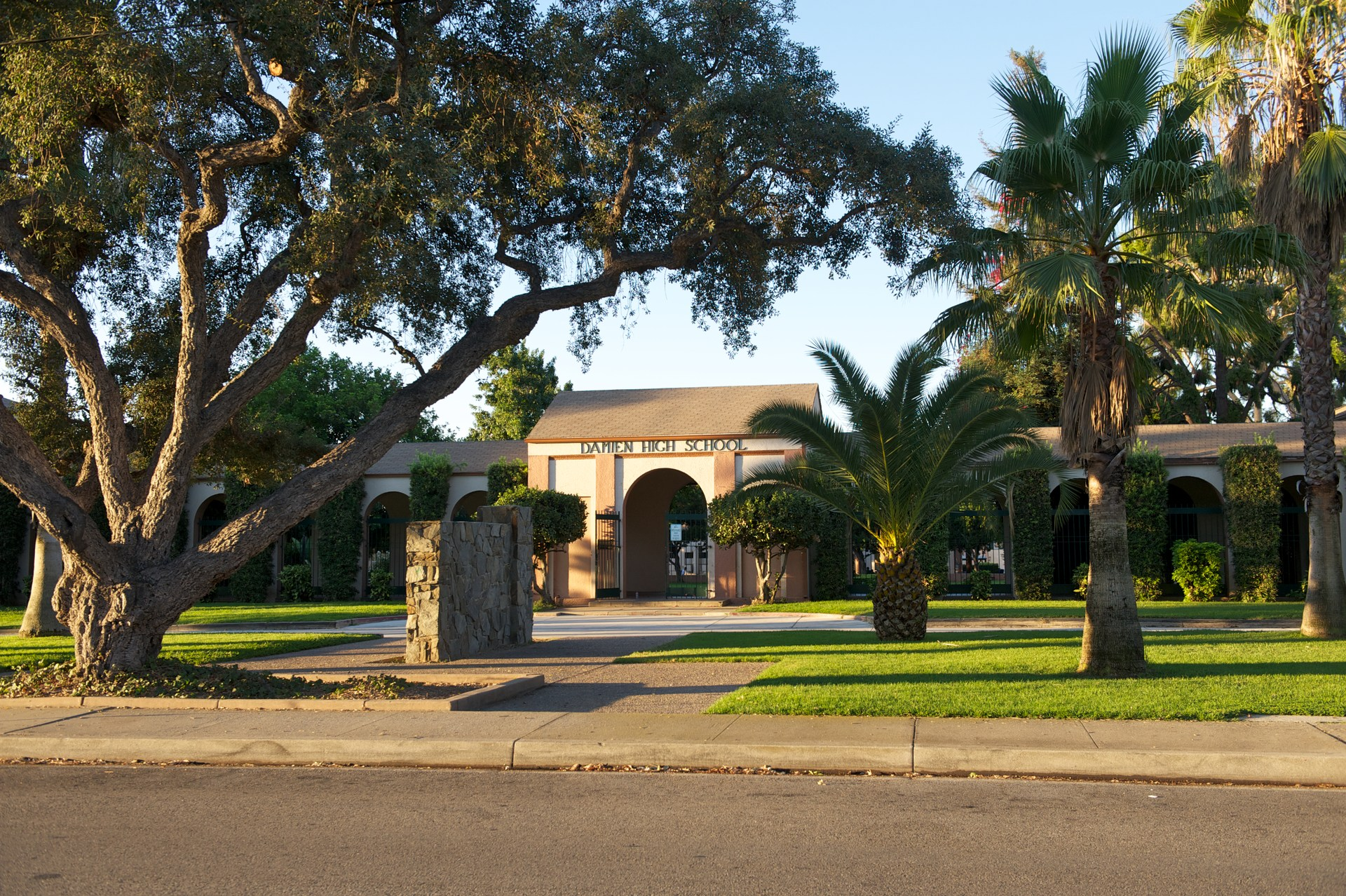 Damien High School Main Entrance