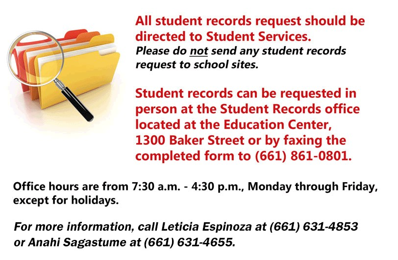 student records information