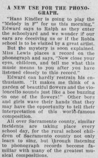 Pacific Rural Press - Robla School - Phonograph article screenshot