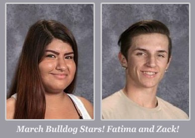 Fatima & Zack, March Students of the Month