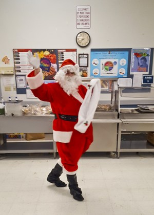 Santa Claus arriving