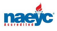 NAEYC logo as the Early Childhood Center is and accredited program