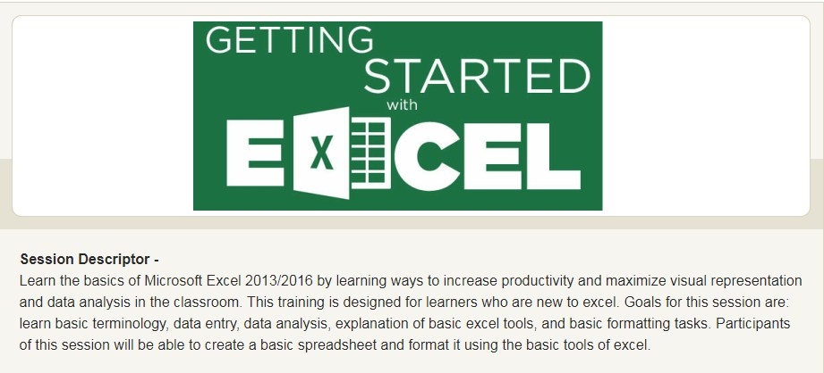Excel - Basics for Visual Representation and Data Analysis