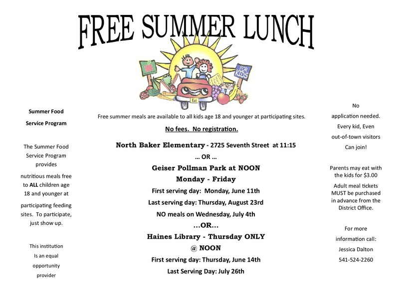 Summer Lunch Menu for 2018 Featured Photo
